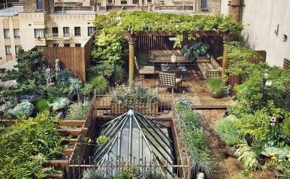 Пентхаус с садом в Нью-Йорке