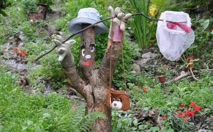 Украшение сада своими руками: